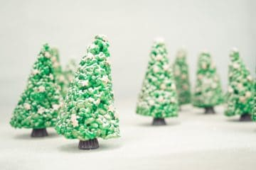 Rice Pop Christmas Trees