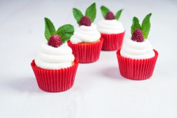 Raspberry and Mint Cupcakes