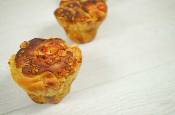 Cheese And Tomato Artisan Muffins