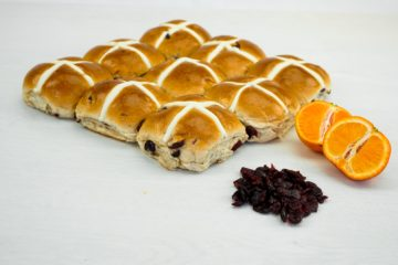 Cranberry and Orange Hot Cross Buns